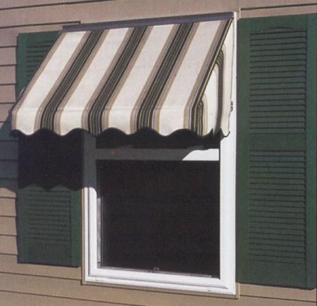 FutureGuard Fabric Window Awning With Sides